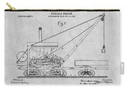 1903 Railroad Derrick Gray Patent Print Carry-all Pouch