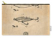 1909 Lockhart Antique Fishing Lure Antique Paper Patent Print Carry-all Pouch