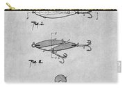 1909 Lockhart Antique Fishing Lure Gray Patent Print Carry-all Pouch