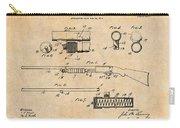 1913 Remington Model 17 Pump Shotgun Antique Paper Patent Print Carry-all Pouch