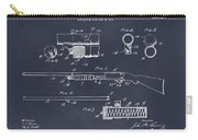 1913 Remington Model 17 Pump Shotgun Blackboard Patent Print Carry-all Pouch