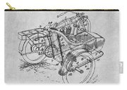 1913 Side Car Attachment For Motorcycle Gray Patent Print Carry-all Pouch