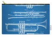 1916 Trumpet And Cornet Blueprint Patent Print Carry-all Pouch