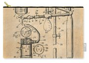 1919 Anesthetic Machine Antique Paper Patent Print Carry-all Pouch