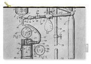 1919 Anesthetic Machine Gray Patent Print Carry-all Pouch
