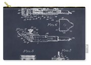 1919 Motor Driven Hair Clipper Blackboard Patent Print Carry-all Pouch