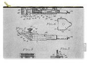 1919 Motor Driven Hair Clipper Gray Patent Print Carry-all Pouch