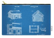 1920 Lincoln Logs Blueprint Patent Print Carry-all Pouch