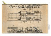 1925 Turbine Driven Locomotive Antique Paper Patent Print  Carry-all Pouch