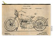 1928 Harley Davidson Motorcycle Antique Paper Patent Print Carry-all Pouch