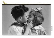 1930s Two Children Young Boy And Girl Carry-all Pouch
