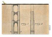 1932 San Francisco Golden Gate Bridge Antique Paper Patent Print Carry-all Pouch