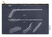 1934 Hockey Stick Patent Print Blackboard Carry-all Pouch