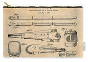 1935 Union Pacific M-10000 Railroad Antique Paper Patent Print Carry-all Pouch
