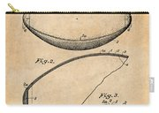 1936 Reach Football Antique Paper Patent Print Carry-all Pouch