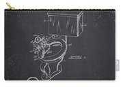 1936 Toilet Bowl - Dark Charcoal Grunge Carry-all Pouch