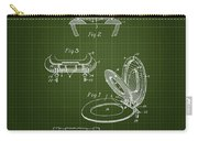 1936 Toilet Seat - Dark Green Blueprint Carry-all Pouch