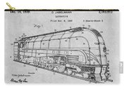 1937 Jabelmann Locomotive Gray Patent Print Carry-all Pouch
