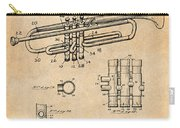 1937 Trumpet Antique Paper Patent Print Carry-all Pouch