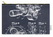 1938 Bell And Howell Movie Camera Patent Print Blackboard Carry-all Pouch