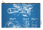 1938 Bell And Howell Movie Camera Patent Print Blueprint Carry-all Pouch