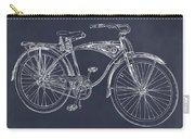 1939 Schwinn Bicycle Blackboard Patent Print Carry-all Pouch