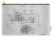 1942 John Deere Tractor Gray Patent Print Carry-all Pouch
