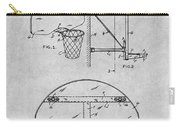 1944 Basketball Goal Gray Patent Print Carry-all Pouch