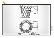 1951 Basketball Goal - Black Retro Style Carry-all Pouch