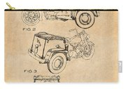 1952 3 Three Wheel Motorcycle Antique Paper Patent Print Carry-all Pouch