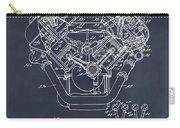 1954 Chrysler 426 Hemi V8 Engine Blackboard Patent Print Carry-all Pouch