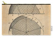 1954 Geodesic Dome Antique Paper Patent Print Carry-all Pouch