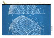1954 Geodesic Dome Blueprint Patent Print Carry-all Pouch