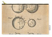 1954 Wiffle Ball Patent Print Antique Paper Carry-all Pouch