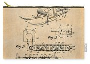 1960 Bombardier Snowmobile Antique Paper Patent Print Carry-all Pouch