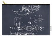 1960 Bombardier Snowmobile Blackboard Patent Print Carry-all Pouch