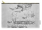 1960 Bombardier Snowmobile Gray Patent Print Carry-all Pouch