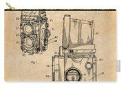 1960 Rolleiflex Photographic Camera Antique Paper Patent Print Carry-all Pouch
