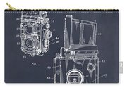 1960 Rolleiflex Photographic Camera Blackboard Patent Print Carry-all Pouch