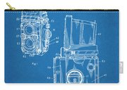 1960 Rolleiflex Photographic Camera Blueprint Patent Print Carry-all Pouch