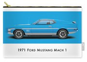 1971 Ford Mustang Mach 1 - Grabber Blue Ver.2 Carry-all Pouch