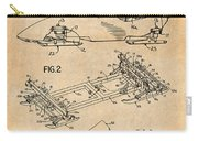 1982 Bobsled Antique Paper Patent Print  Carry-all Pouch