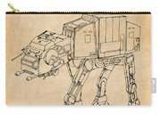 1982 Star Wars At-at Imperial Walker Antique Paper Patent Print Carry-all Pouch