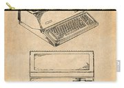 1983 Steve Jobs Apple Personal Computer Antique Paper Patent Print Carry-all Pouch