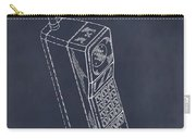 1988 Motorola Cell Phone Blackboard Patent Print Carry-all Pouch