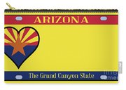 Arizona State License Plate Carry-all Pouch