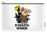 Barking Spider Halloween Design For Dog Lovers Light Carry-all Pouch