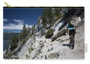 Cyclist On Mountain Road, Lake Tahoe Carry-all Pouch