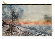 Digital Watercolor Painting Of Beautiful Winter Landscape At Vib Carry-all Pouch