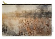 Digital Watercolor Painting Of Landscape Of Lake In Mist With Su Carry-all Pouch